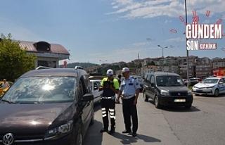 715 sürücüye 21 bin lira ceza...