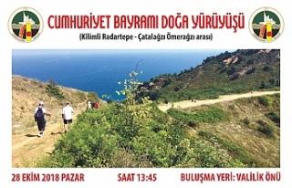 Cumhuriyet Bayramı Doğa Yürüyüşü düzenleniyor