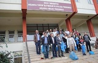 Düzce Üniversitesi Akçakoca yerleşkesinde çevre...