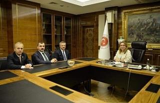 Ticaret Bakanıyla görüştüler
