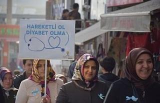 AK Parti İl Kadın Kolları'ndan diyabette farkındalık...