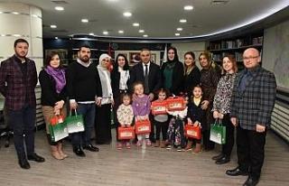 Başkan Dursun Ay özel çocukları ağırladı