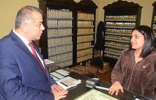 Erdoğan Bıyık'a esnaflar büyük ilgi gösterdi