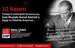Erol Çivici'nin 10 Kasım Atatürk'ü Anma...