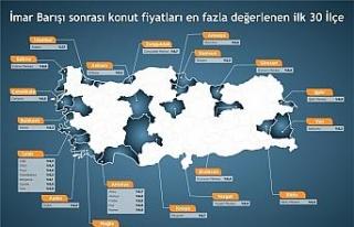 En fazla artış Zonguldak'ta