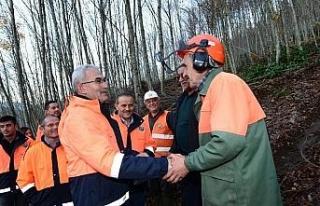 Karacabey Yenice'de orman teşkilatı ile bir araya...
