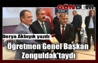 Öğretmen Genel Başkan Zonguldak'taydı