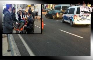 Otomobil genç kıza çarptı!..