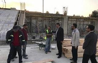 Rektör Polat, inşaat alanlarındaki çalışmaları...