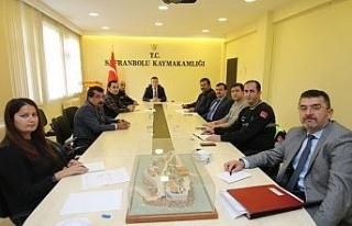 Safranbolu'da kış mevsimi trafik tedbirleri toplantısı...