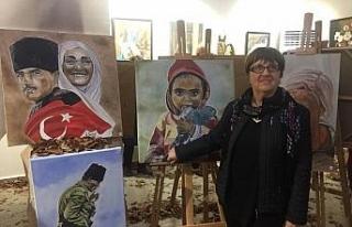 Yağlı boya sergisi açıldı