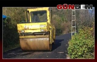 Çalca asfaltlanıyor