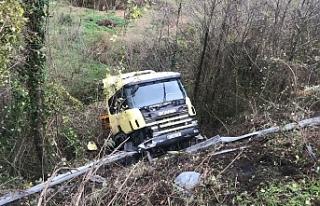 Çevre yolunda TIR kazası!