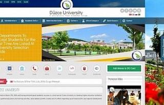 Düzce Üniversitesi internet sayfası 4 dilde hizmet...