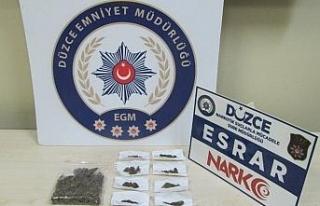 Düzce'de uyuşturucudan gözaltına alınan 7 kişi...