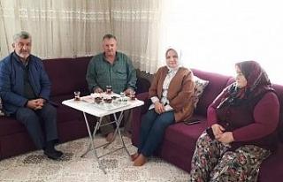 Milletvekili Keşir Başkan Yiğit ile şehit evine...