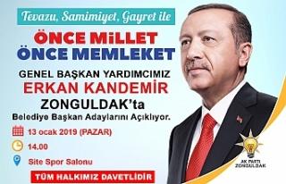 AK Parti Zonguldak halkını bekliyor