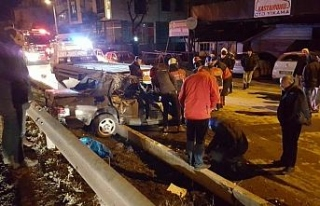 Düzce'de meydana gelen kazada 4 kişi yaralandı