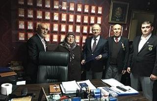 Kaymakam Çorumluoğlu, Gazileri ziyaret etti