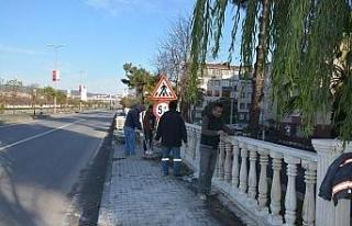 Gülüç Belediyesi çevre düzenleme çalışmaları...