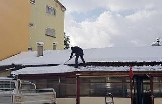 Karabük'te karla mücadele çalışmaları