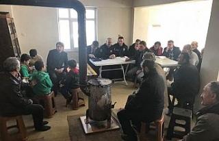 Kaymakam Çetin vatandaşı dinledi