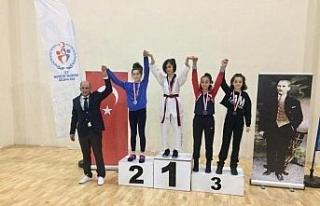 Taekwondocular madalyaları topladı