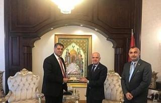 Rektör Polat, 4 ülkenin Ankara büyükelçilerini...