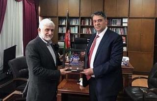 Rektör Polat, Afganistan Büyükelçisini ziyaret...