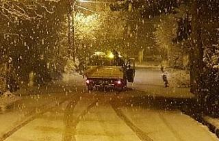 Karabük'da kar yağışı etkili oldu