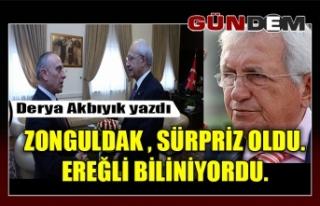 Zonguldak , sürpriz oldu. Ereğli biliniyordu.
