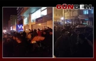 Ereğli'de gece yarısı TTK izdihamı...