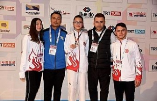 Milli tekwondocu Livanur üçüncü oldu