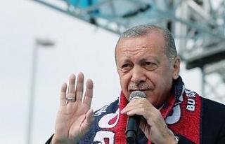 Erdoğan, Düzce Anıtpark'ta halka hitap etti.