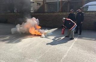 İsmetpaşalı öğrenciler yangın ve afet tatbikatı...