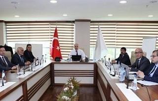 Başkan Özlü istişare toplantısı yaptı