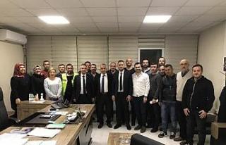 Başkan Yardımcısı Kasapoğlu, personel ile yakından...