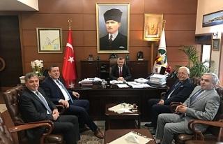 Başkanlardan Vali Bektaş'a ziyaret