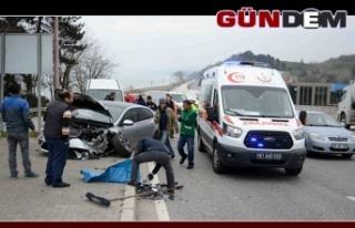 Düzce Zonguldak karayolunda kaza!..