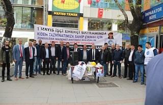 GMİS Gazipaşa'da 1 Mayıs'a davet standı...