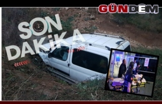Otomobil Menfeze Uçtu: 1'i ağır 5 yaralı