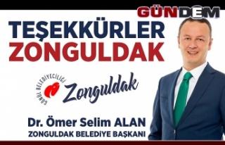 Ömer Selim Alan'dan teşekkür