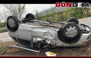 Otomobil takla attı... Yaralılar var