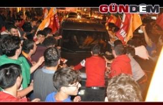 Ereğli'de Galatasaraylıların 'şampiyonluk'...