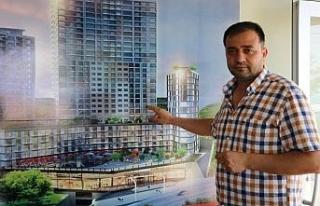 24 katlı binayla sosyal medyada gündem oldu