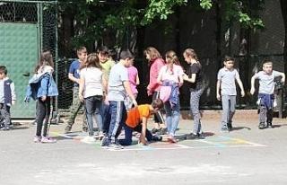 Safranbolu'da okul bahçeleri öğrenciler için...