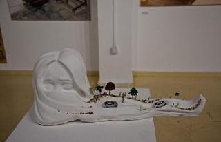 Sanat tasarım öğrencilerinin eserlerine yoğun...