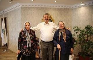 Başkan Akın misafirlerini ağırladı
