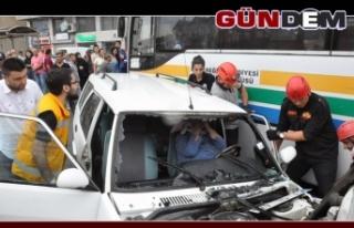 Ereğli'de kaza; 2 yaralı