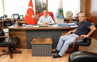 Eski Başkan Gonca'dan Başkan Alan'a ziyaret